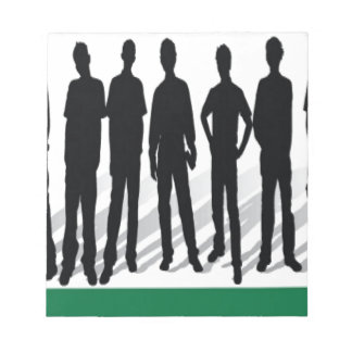 People silhouettes design memo notepads