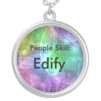 People Skill: Edify Silver Plated Necklace