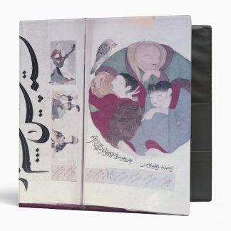 People sleeping and calligraphy binder