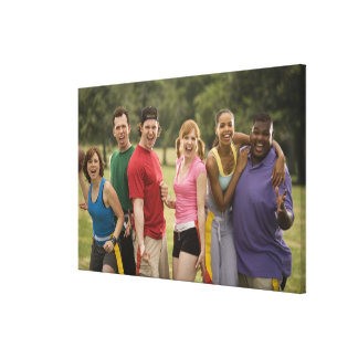 People smiling canvas print
