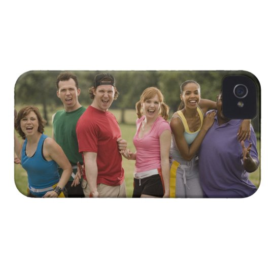 People smiling iPhone 4 case