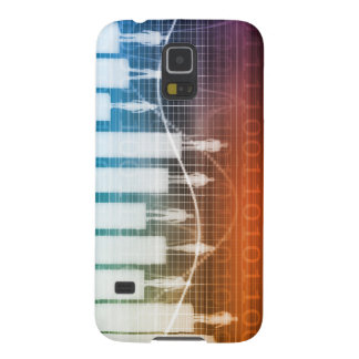 People Standing on a Bar Chart with Different Leve Galaxy S5 Cover