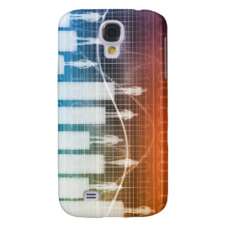 People Standing on a Bar Chart with Different Leve Samsung Galaxy S4 Cover