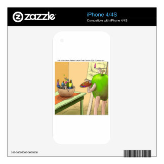 People Still Life Funny Cartoon Decal For The iPhone 4S