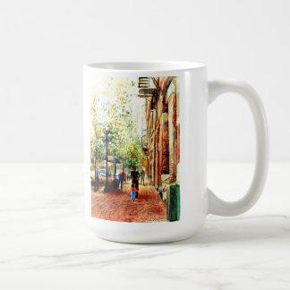 people street scene in pioneer square seattle wa mugs