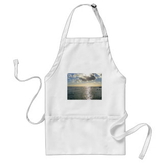 People Swimming at Waikiki Beach at Sunset, Hawaii Adult Apron