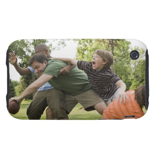 People tackling while playing football tough iPhone 3 cover