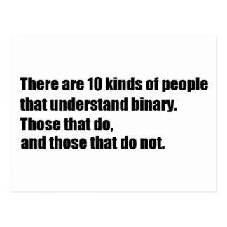 People that understand binary postcard