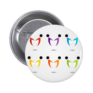 People together showing unity 2 inch round button