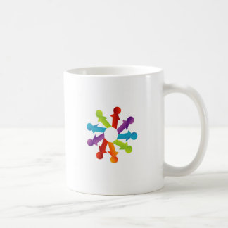 People together showing unity coffee mug