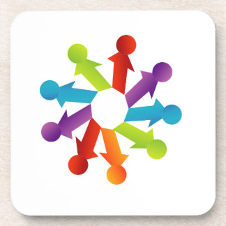 People together showing unity drink coaster