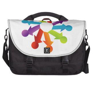 People together showing unity laptop commuter bag