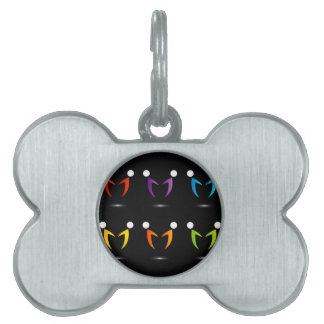 People together showing unity pet tag