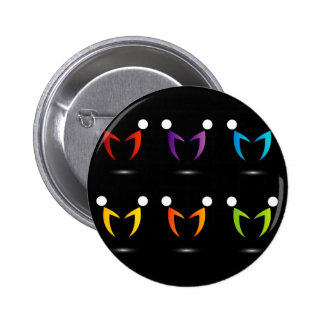 People together showing unity pinback button