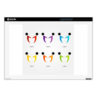 People together showing unity laptop skin
