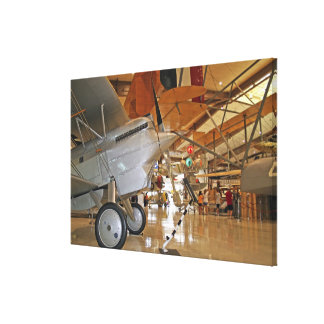People touring National Museum of Naval Aviation Gallery Wrap Canvas