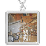 People touring National Museum of Naval Aviation Square Pendant Necklace