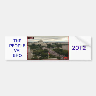 PEOPLE VS BHO BUMPER STICKER