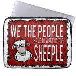 People Wake up Sheeple Computer Sleeves