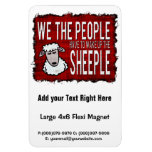 People Wake up Sheeple Rectangle Magnet