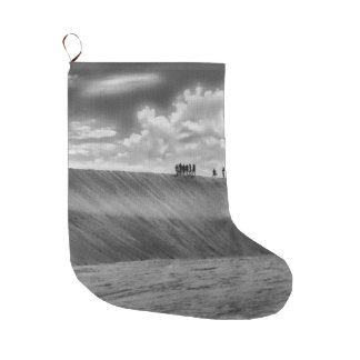 People Walking at Dune Jericoacoara Brazil Large Christmas Stocking