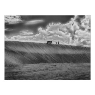 People Walking at Dune Jericoacoara Brazil Poster
