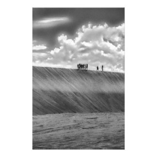 People Walking at Dune Jericoacoara Brazil Stationery