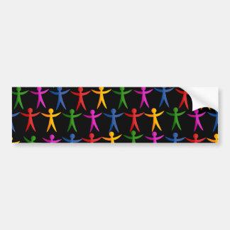 People Wallpaper Bumper Sticker