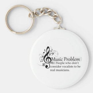 People who don't consider vocalists... basic round button keychain