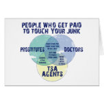 People Who Get Paid To Touch Your Junk! Greeting Card