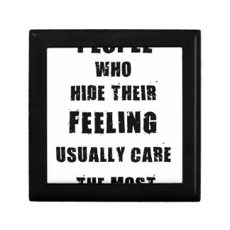people who hide their feeling usually care most keepsake box