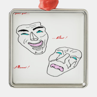PEOPLE WHO LAUGH PEOPLE WHO PLEURENT.png Metal Ornament