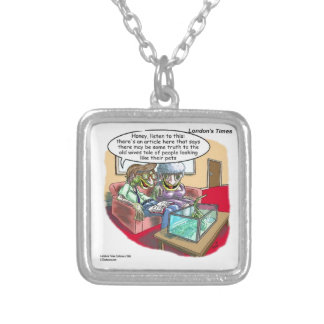 People Who Look Like Iguanas Funny Square Pendant Necklace