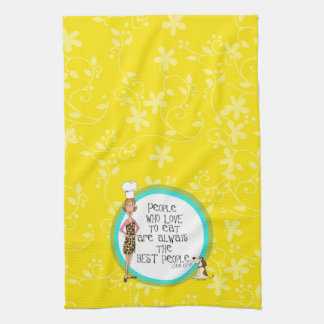 People who love to eat are the BEST people Hand Towel