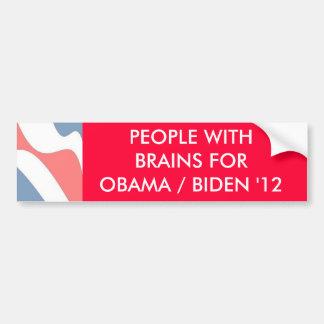 PEOPLE WITH BRAINS  - bumper sticker Car Bumper Sticker