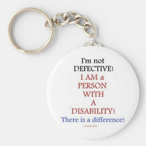 PEOPLE WITH DISABILITIES BASIC ROUND BUTTON KEYCHAIN