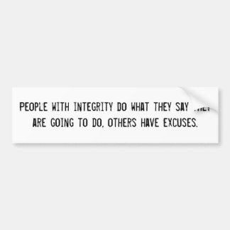 People with integrity bumper sticker