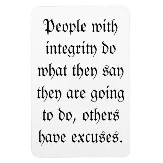 People with integrity magnet
