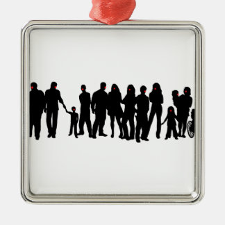 People with red noses design metal ornament