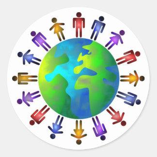People World Classic Round Sticker