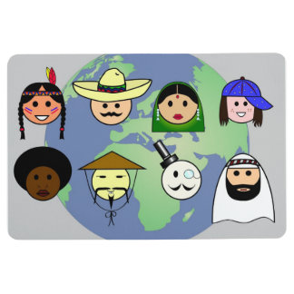 People worldwide anti racism pro diversity floor mat