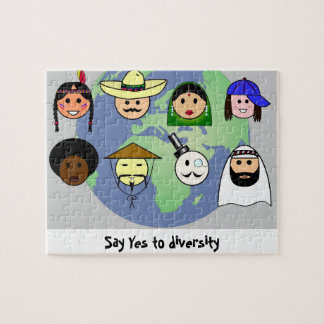People worldwide anti racism pro diversity jigsaw puzzle
