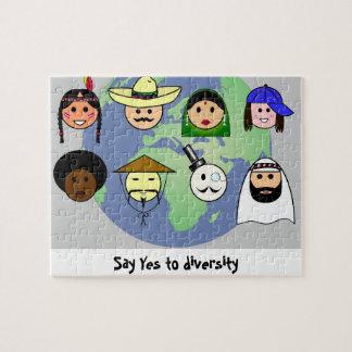 People worldwide anti racism pro diversity jigsaw puzzle