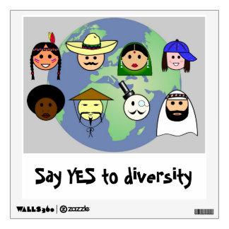 People worldwide anti racism pro diversity wall decal