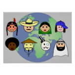 'People worldwide'  poster