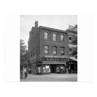 Peoples Drug Store, 1921 Postcard
