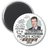 People's House Scott Brown 4 President 2012 Magnets