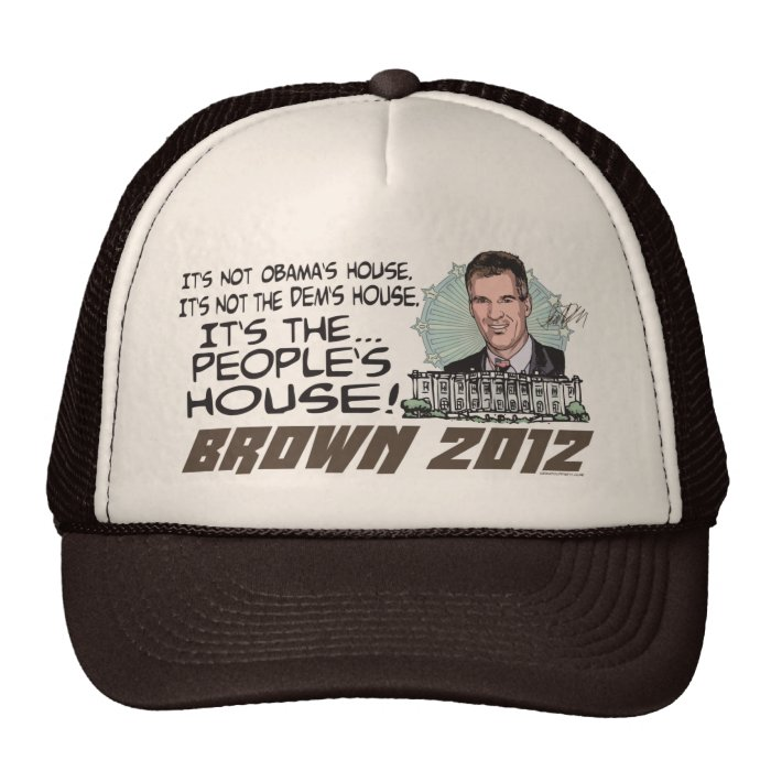 People's House Scott Brown 4 President 2012 Trucker Hat