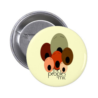 Peoples Mic Pinback Button