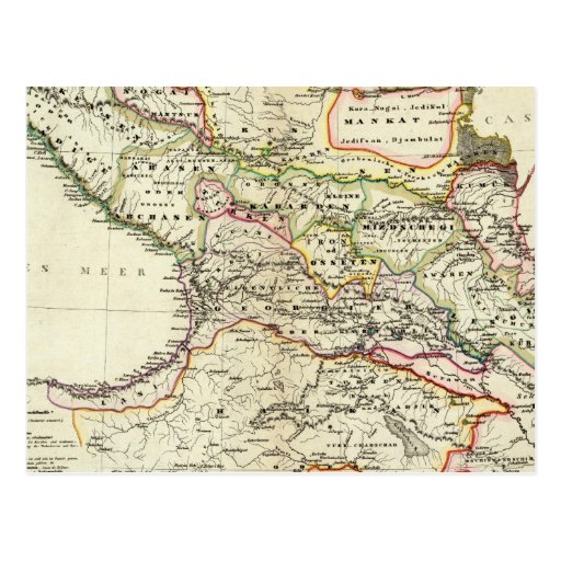 peoples of the Caucasus Post Card